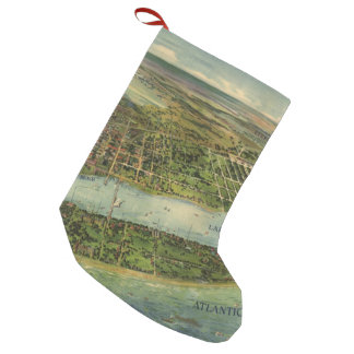 Vintage Pictorial Map of West Palm Beach (1915) Small Christmas Stocking