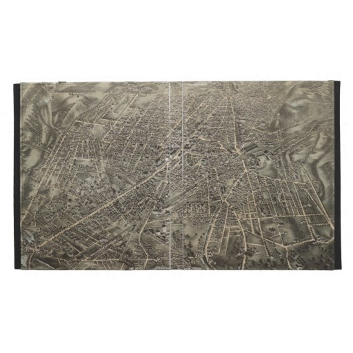 Vintage Pictorial Map of Worcester MA (1878) iPad Case