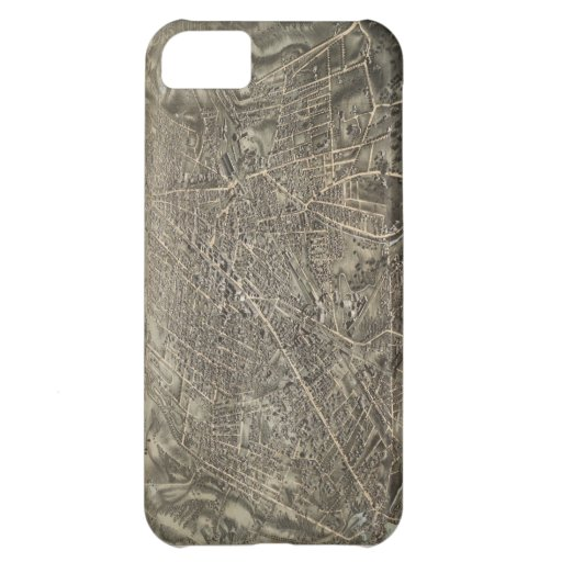 Vintage Pictorial Map of Worcester MA (1878) iPhone 5C Covers