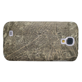 Vintage Pictorial Map of Worcester MA (1878) Samsung Galaxy S4 Case