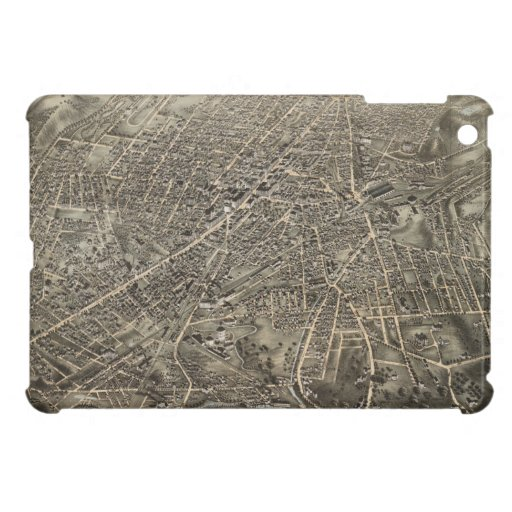 Vintage Pictorial Map of Worcester MA (1878) iPad Mini Cases