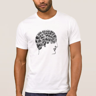 Vintage Pictorial Phrenology Head T Shirts