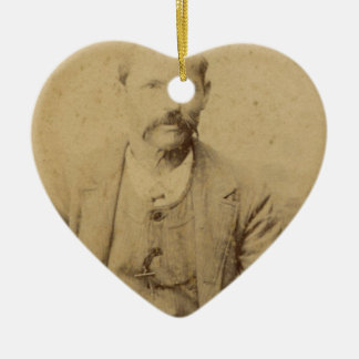 Vintage picture of a man christmas ornament