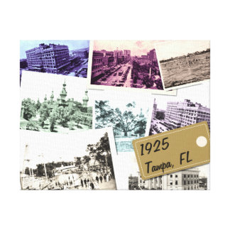 Vintage Pictures of Tampa Florida Gallery Wrap Canvas