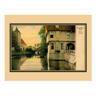 Vintage picturesque view Burgsteinfurt Postcard