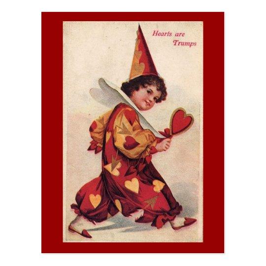 Vintage Pierrot Valentine Postcard