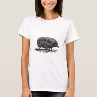 Vintage pig etching shirt