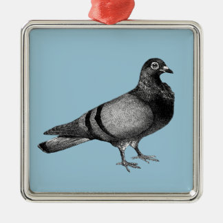 Vintage Pigeon gifts Silver-Colored Square Decoration