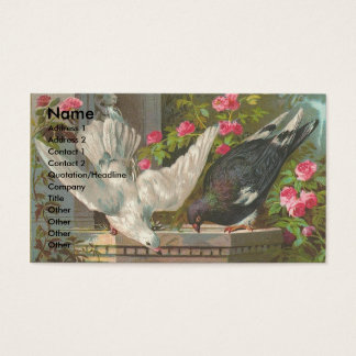 Vintage Pigeons Business Card