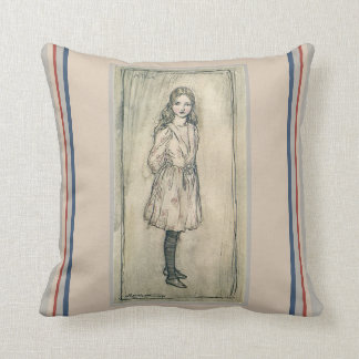 VINTAGE PILLOW, ALICE IN WONDERLAND LEWIS CARROLL CUSHION