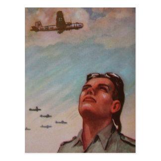 Vintage Pilot Postcard