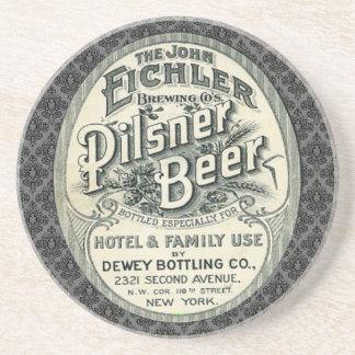 Vintage Pilsner Beer Ad Label Coaster