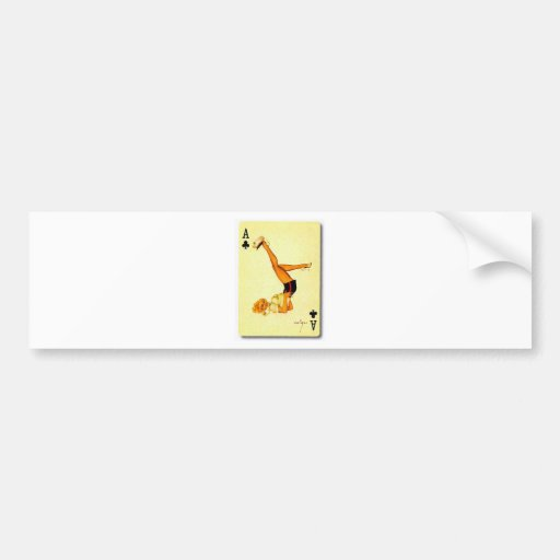 vintage pin up ace bumper sticker