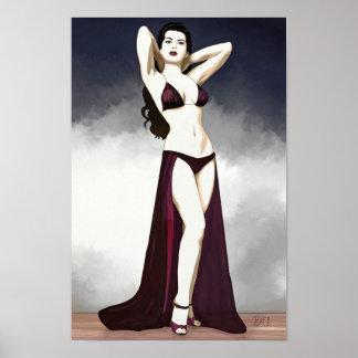 Vintage Pin up girl - 1930 (poster) Poster