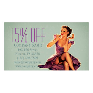 vintage pin up girl beauty salon makeup artist pack of standard business cards