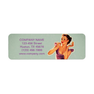 Pin up labels address return address labels for Address beauty salon