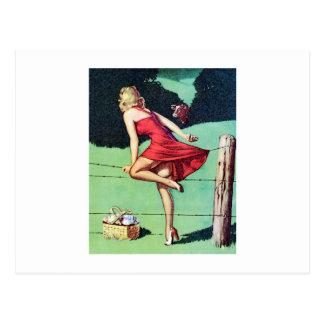 VIntage Pin Up Girl Postcard