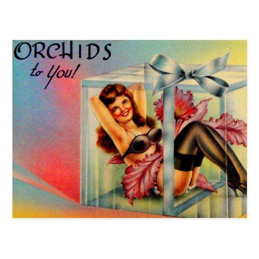Vintage Pin Up Girl Postcard Showgirl