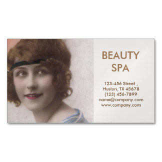 vintage pin up girl SPA beauty hair salon Magnetic Business Cards