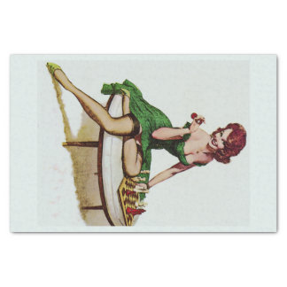 Vintage Pin Up Girl Tissue Paper