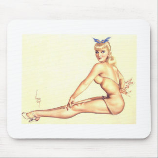 Vintage Pin Up Girl Vintage Mousepad