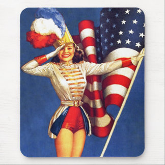 Vintage Pin-up Patriotic Design Gift Mousepads