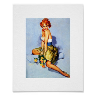 Vintage Pin Up Poster