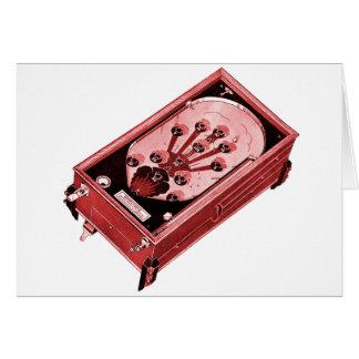 Vintage Pinball Machine One-Shot Greeting Card