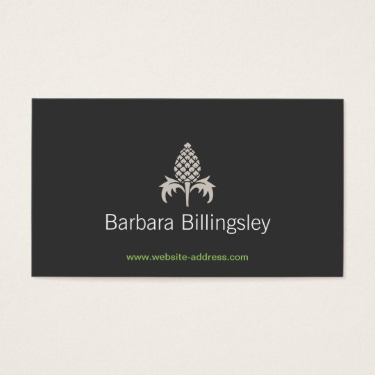 VINTAGE PINEAPPLE MOTIF LOGO No. 2 Business Card