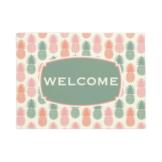 Vintage Pineapple Pattern | Add Your Name Doormat