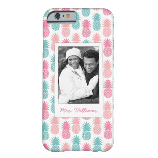 Vintage Pineapple Pattern | Add Your Photo & Name Barely There iPhone 6 Case