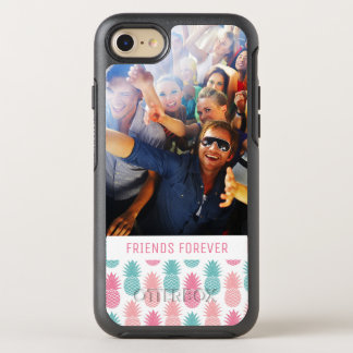 Vintage Pineapple Pattern | Add Your Photo & Text OtterBox Symmetry iPhone 7 Case