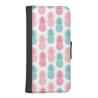 Vintage Pineapple Pattern iPhone SE/5/5s Wallet Case