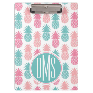 Vintage Pineapple Pattern | Monogram Clipboard