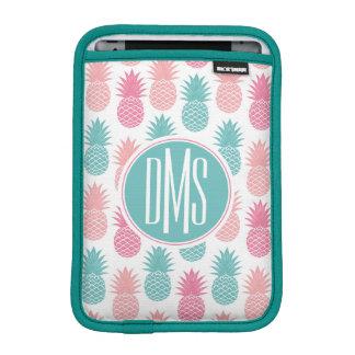 Vintage Pineapple Pattern   Monogram iPad Mini Sleeves