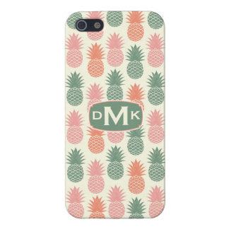 Vintage Pineapple Pattern   Monogram iPhone 5/5S Case