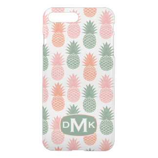 Vintage Pineapple Pattern | Monogram iPhone 8 Plus/7 Plus Case