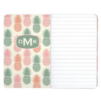 Vintage Pineapple Pattern | Monogram Journal