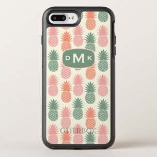 Vintage Pineapple Pattern | Monogram OtterBox Symmetry iPhone 8 Plus/7 Plus Case