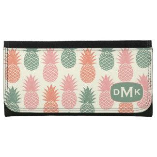 Vintage Pineapple Pattern | Monogram Wallet