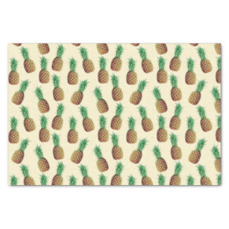 Vintage Pineapple Tropical Pattern Tissue Paper