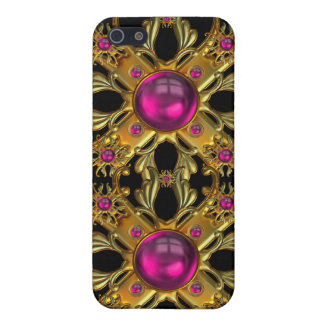 Vintage pink and Gold Jewels Image  iPhone 5 Cover