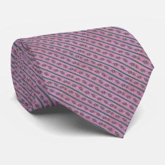 Vintage Pink and Green Florals Tie