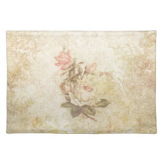 Vintage Pink and Ivory Rose Placemat