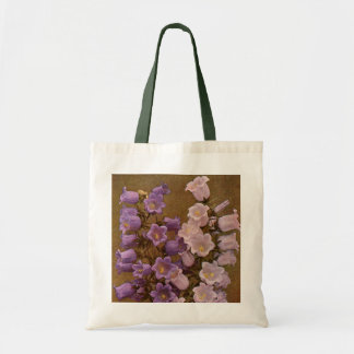 Vintage Pink and Purple Bell Flowers Tote Bag