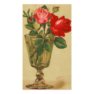 Vintage Pink and Red Roses Pack Of Standard Business Cards