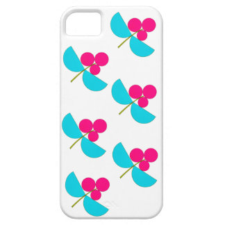 Vintage pink and turquoise flowers iPhone 5 cover