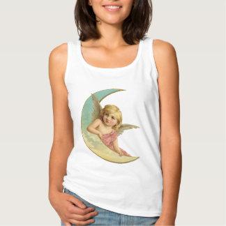 Vintage Pink Angel on the Moon Tee
