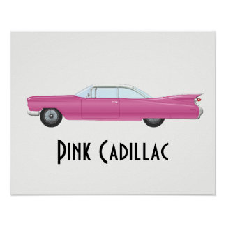 Vintage Pink Cadillac Poster