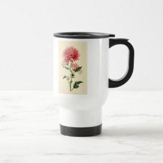 Vintage Pink Chrysanthemum Flower Mugs